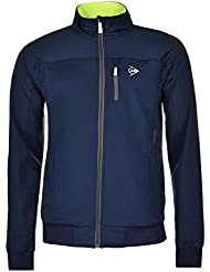 Dunlop Mujer Chaqueta Club Line Knitted Jacket, todo el año, mujer, color azul oscuro, tamaño extra-large
