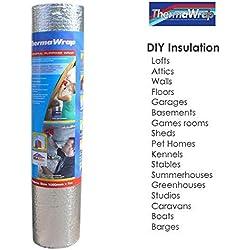 Thermawrap Matériau d'isolation à usage général pour murs et sols Pose facile 1 050 mm x 7 m x 3,77 mm