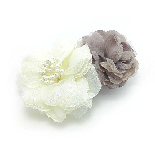 meilliwish-dos-tejidos-flor-boda-mujer-chicas-horquilla-de-clip-de-pelo-a77blanco