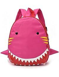 mochilas escolares, Sannysis Mochila para niños - Patrón de Tiburón (rosa)