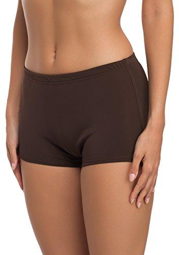 Merry Style Damen Badeshorts Bikinihose Modell L23L1 (Braun (8157), 46)