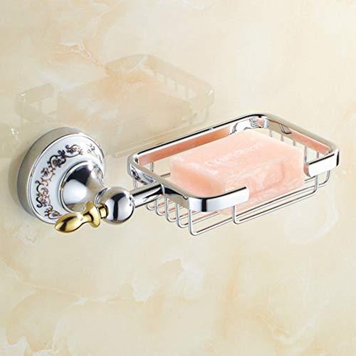 Ludsuy accessori per il bagno cromato lucido porcellana sapone di rete in acciaio inox a muro sapone montato piatti accessori per il bagno