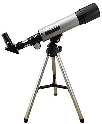 Land & Sky Telescope - Optical Glass & Metal Tube Refractor Telescope (90X Power) With Free TRIPOD & 2 EYEPIECES