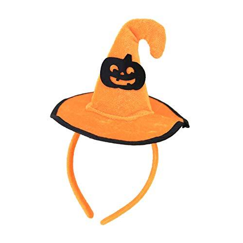 Dandeliondeme Halloween dekorative Haarband, Dekoration Hexe Kürbis Fledermaus Spinne Stirnband Kinder Haarband Party Hut Pumpkin