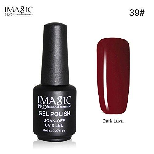 DOLDOA Bouteille noire 8ML Gel Vernis à ongles Art Ongles Ultraviolet LED Semi-permanent Vernis (E)