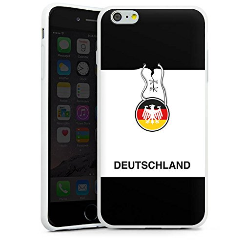 Apple iPhone X Silikon Hülle Case Schutzhülle Deutschland Fußball Trikot Silikon Case weiß
