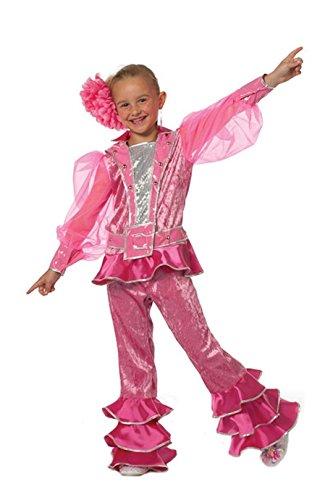narrenkiste W3149A-140 pink Kinder Disco Anzug Disco Queen Gr.140