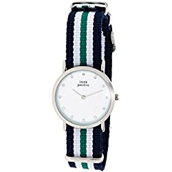 Ladies' THINK POSITIVE® Model SE W96 Watch Medium Flat Steel Crystal Bracelet Of Cordora Blue, White, Green