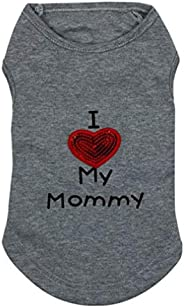 I LOVE MY MOMMY Pet dog clothes lovely cute Pet vest for dogs and cats Teddy costume apparel