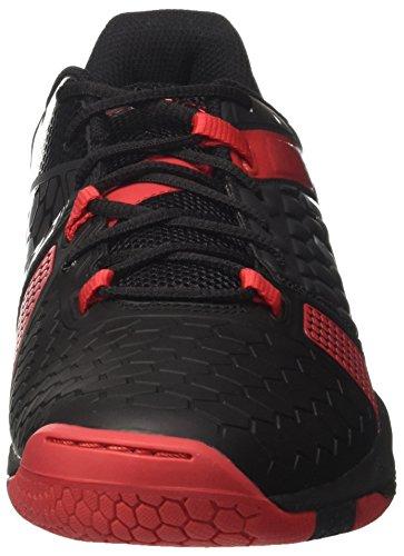 Asics Gel-Blast 7, Chaussures de Handball Homme Noir (Black/Silver/Prime Red 9093)