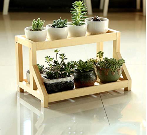 YINUO Original Desktop Mini Massivholz Blume Ständer Rack Einfache mehrschichtige Montage Flesh Fensterbank Blume Stehen Holz Blume Ständer (Color : Varnish Color) -