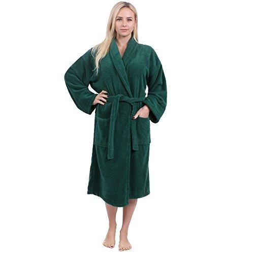Star and Stripes Albornoz para Hombre y Mujer con diseño de Rayas y Estrellas Verde Verde Oscuro S/M