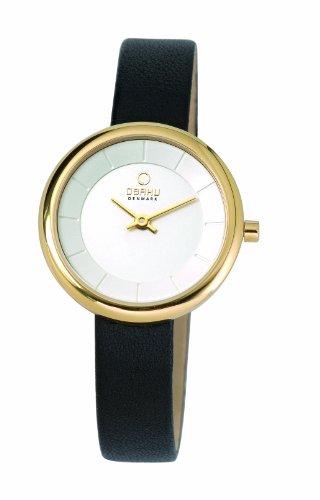 Obaku Denmark V146LGIRB - Reloj de pulsera mujer, piel, color negro