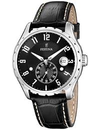 FESTINA F16486/4 - Reloj de caballero de cuarzo, correa de piel color negro
