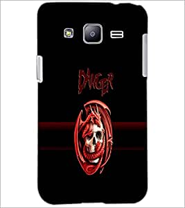 PrintDhaba Danger D-4262 Back Case Cover for SAMSUNG GALAXY J2 (Multi-Coloured)