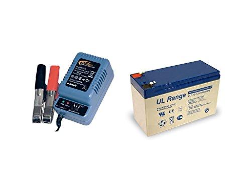 Blei-Gel-Akku 12V 7Ah inkl. AL-300 Pro Bleiladegerät Bundle