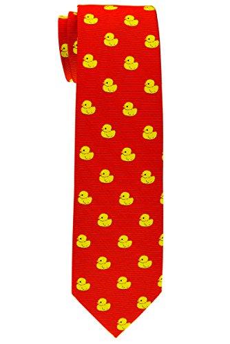 Corbata del niño de Retreez, diseño a rayas, 8-10años, varios colores Rojo rosso 8 - 10 Año