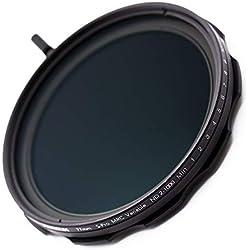 JONGSUN Filtre ND Variable 77mm, S-Pro MRC 16 Couches Revêtements Nano, 10 Arrêt ND2-ND1000 Graduées, Caméra Filtre de Densité Neutre