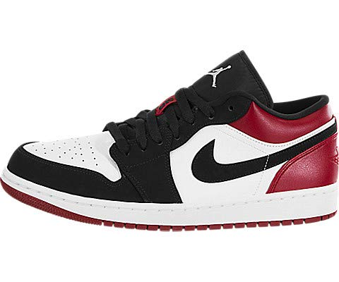 Nike Herren AIR Jordan 1 Low Basketballschuhe, Weiß (White/Black/Gym Red 116), 45 EU -