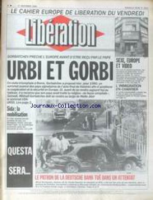 LIBERATION [No 2651] du 01/12/1989 - CAHIER EUROPE...