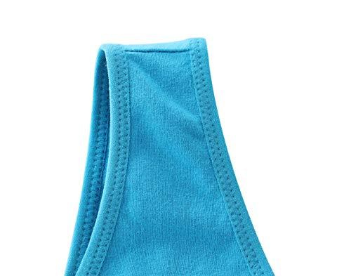 Manci Baumwolle Still BH, Damen Schwangerschafts Still BH für Stillen und Schlaf (Schwarz + Grau + Blau, XL/38B,38C,38D) - 5