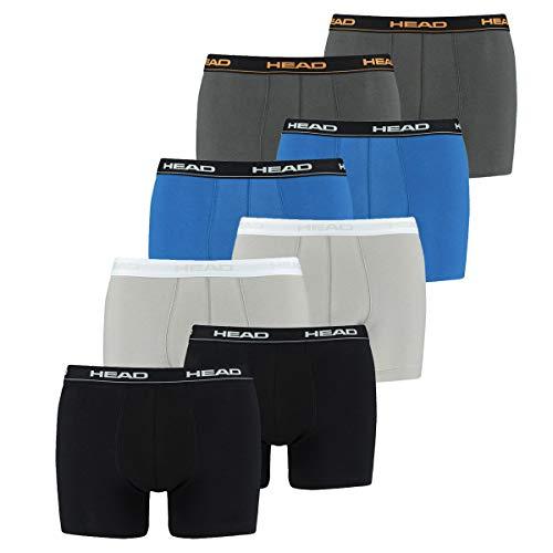 HEAD Men Boxershort 841001001 Basic Boxer 8er Pack, 2x Black 2x Grey 2x Dark Shadow 2x Blue/Black, XL