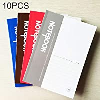 ZD-DZ Random Colour Delivery, 10 PCS 100 Pages A5 Lenient Cover Diary Notebook Office Supply