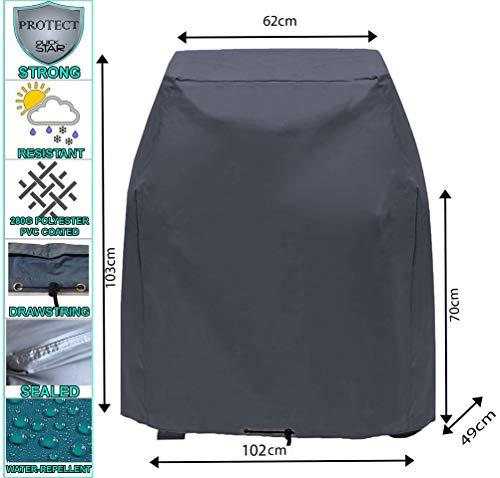 Quick star copertura protettiva griglia grill 102x49x103cm tepro toronto grill bbq