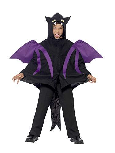 Smiffys Kinder Unisex Vermummte Gestalt Kostüm, Cape mit Flügeln und Schwanz, Größe: S/M, 44323 (Flügel Cape Kostüm)