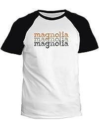 Idakoos Magnolia repeat retro - Prénoms Féminins - T-Shirt Raglan