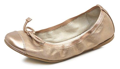 Garvalín Mädchen 172655 Ballerinas mit Geschlossener Spitze Gold