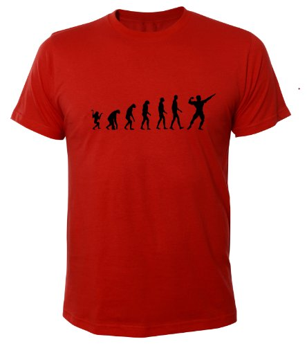 Mister Merchandise Cooles Fun T-Shirt Bodybuliding Evolution Muscle Fitness Rot
