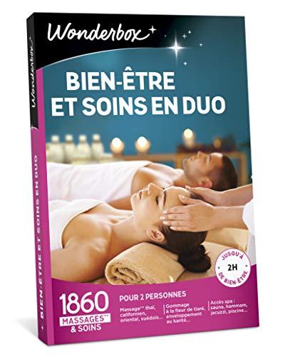 Wonderbox - Coffret cadeau Noël - BIEN-ETRE ET SOINS EN DUO - 1860 massages et soins...