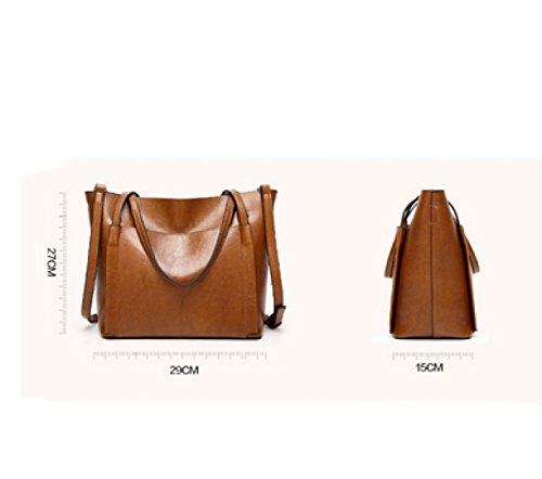 LAIDAYE Mode Wilde Frau Mobile Messenger Schultertasche Große Tasche Brown