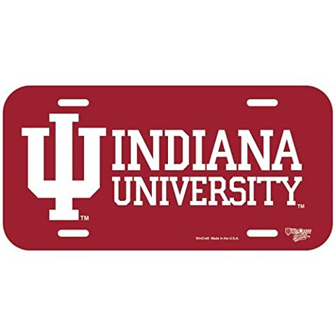 NCAA Indiana Hoosiers License Plate, Team Color, One Size