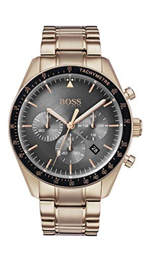 Hugo Boss Watch Hommes Chronographe Quartz Montre avec Bracelet en Or Rose 1513632
