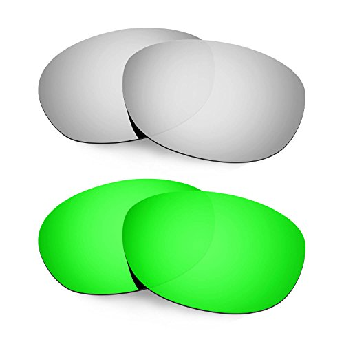 HKUCO Mens Replacement Lenses For Costa Harpoon Titanium/Emerald Green Sunglasses