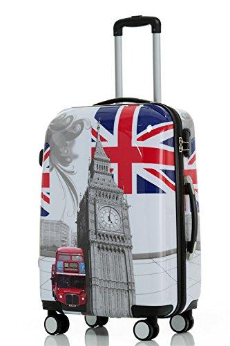 BEIBYE BEIBYE Reisekoffer Hartschalen Hardcase Trolley Zahlenschloss Polycarbonat SET-XL-L-M- Beutycase (Britisch Bus, L)
