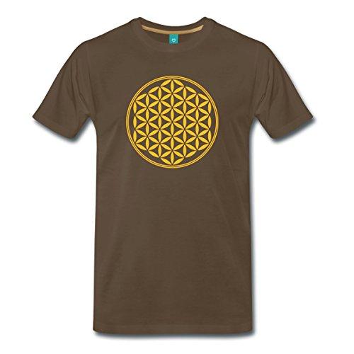 blume-des-lebens-flower-of-life-manner-premium-t-shirt-von-spreadshirtr-xxl-edelbraun