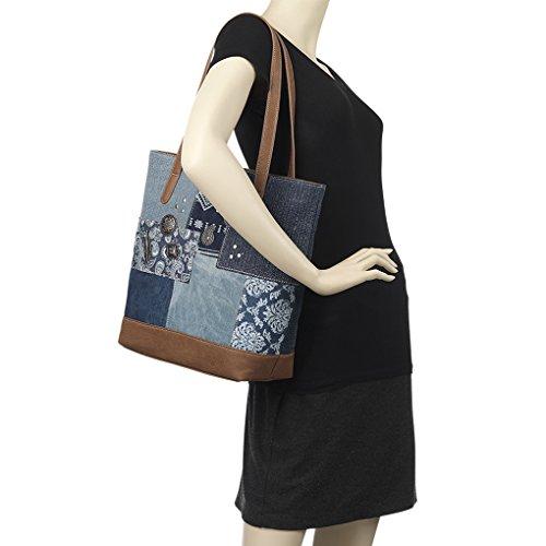 Banadana From American West  Êtop-handle Bags, Sac femme Multi Indigo