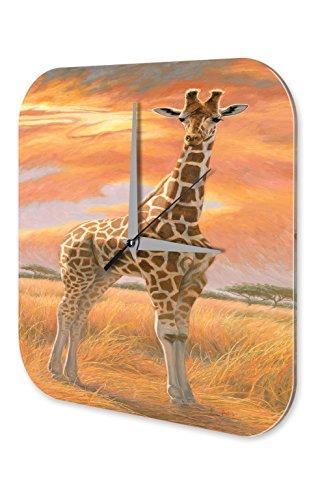 Wanduhr Kinderzimmer Tier Giraffe Deko Giraffe Steppe Gemalt Dekouhr