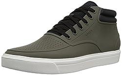 Crocs Mens Dark Camo Green White Rubber Boots (Crocs_887350984774) - 9 UK