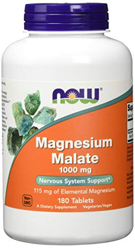 NOW NF Magnesium Malate, 180 tabletten