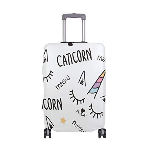 Funny Caticorn Einhorn-Gepäckabdeckung, Spandex, Reisekoffer, Gepäck, passend für Damen, Herren, Erwachsene, Teenager