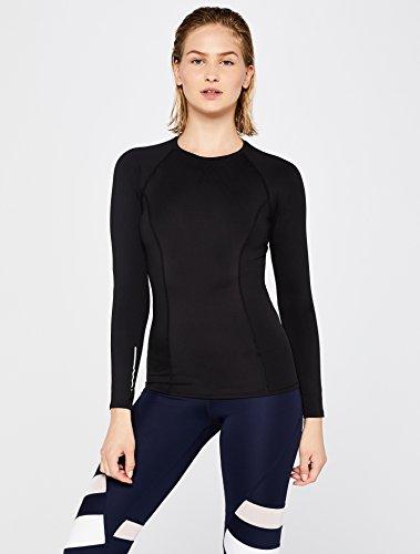 AURIQUE Damen Sporttop, Schwarz (Black), 40 (Herstellergröße: Large)