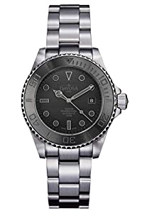 Davosa Automatic Ternos Pro Black Stainless Steel Wrist Watch