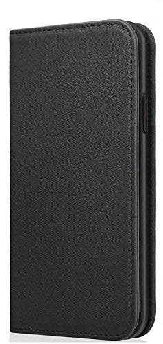 Helix Dustproof Magnetic Wallet Leather Flip Cover for Samsung Galaxy J7 Prime   Black