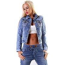 OSAB-Fashion 10522 Damen Jeansjacke Jeans Jacke Kurze Jacke Stretch Denim  Perlen Glitzer ea3b56e173