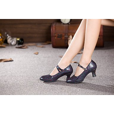 donna in pelle scamosciata con tacco alto sandali da danza latina Salsa US7.5 / EU38 / UK5.5 / CN38 US6.5-7 / EU37 / UK4.5-5 / CN37
