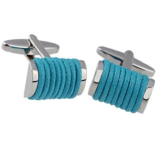 Camicia Gemelli Piazza torcere corda collegamenti blu francese Gemelli Coppia Uomo di AieniD